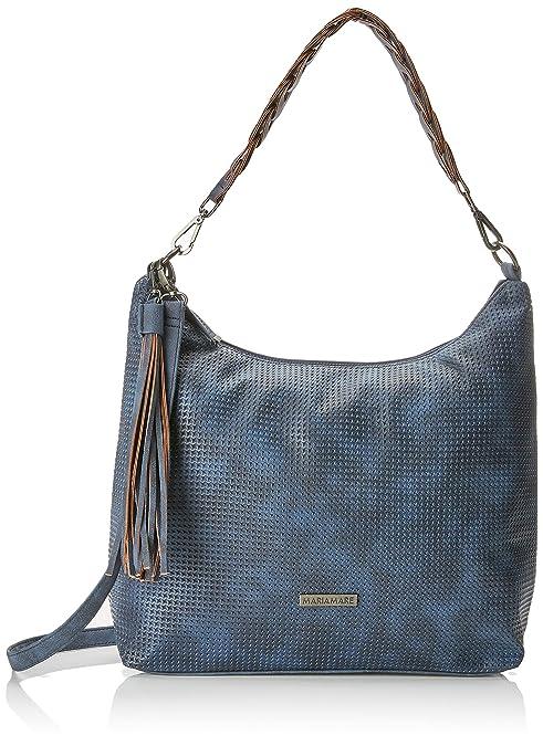 MARIA MARE Mariamare Bianca, Shopper para Mujer, Azul (CROS Crosly Marino), 13 x 35 x 37 cm: Amazon.es: Zapatos y complementos