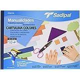 Sadipal 936179 - Cuaderno de manualidades cartulina, 10 hojas, multicolor