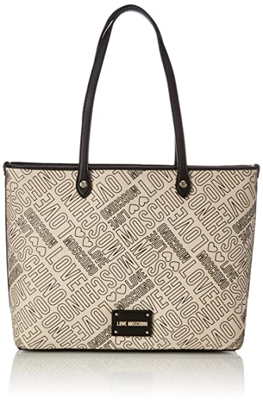 Love Moschino Embossed Canvas Sac noir/blanc lr4Ah
