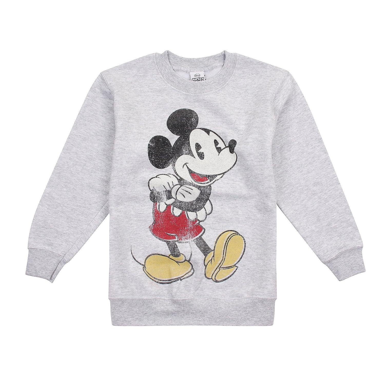 Disney Mickey Vintage, Felpa Bambino (Sport Grey Spo) 7-8 Anni RRBCS987
