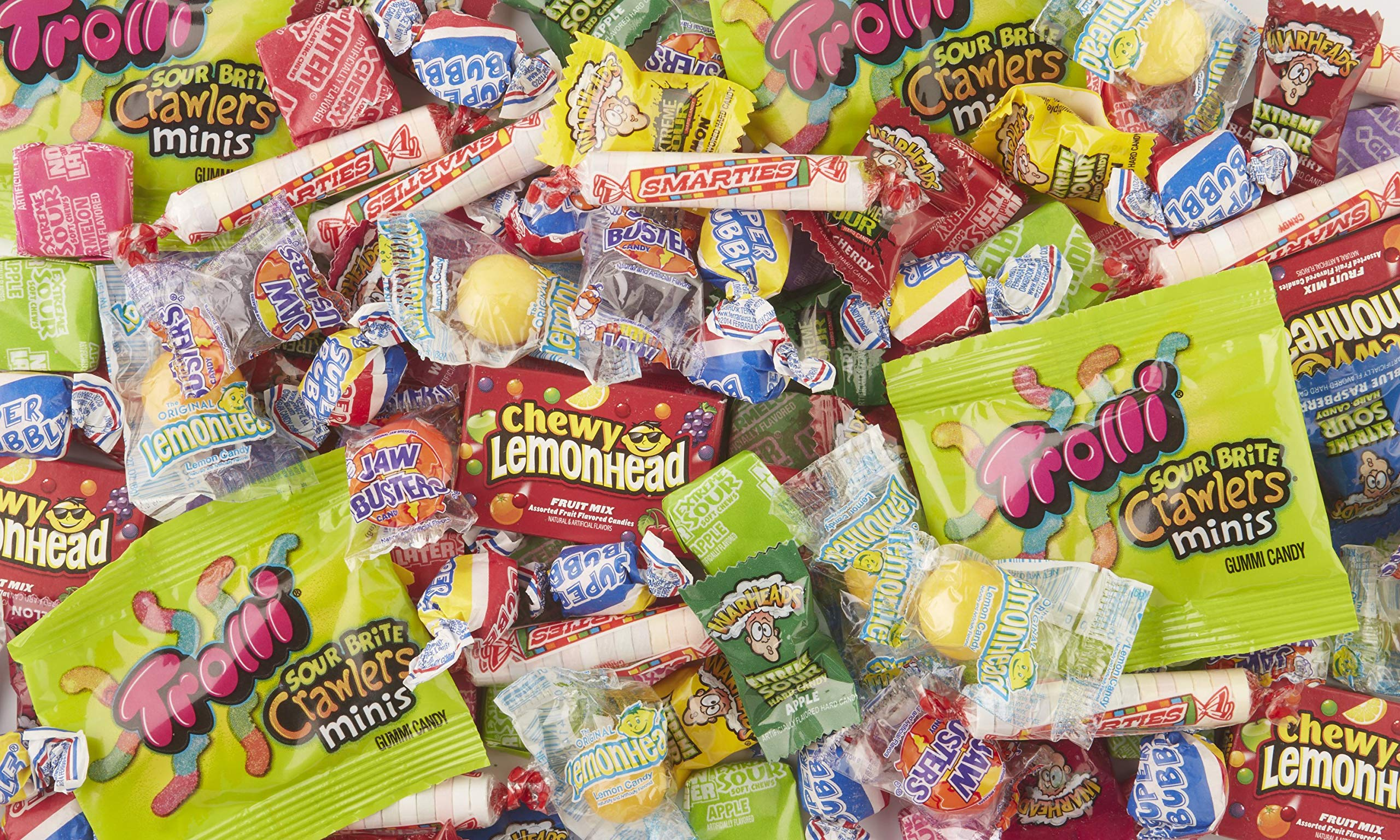 Brach's Sweet & Sour Kiddie Mix Variety Pack Individually Wrapped Candies, 4.36 Pound Bulk Candy Bag