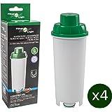 4 x FilterLogic CFL-950B - cartuccia filtrante / filtro acqua per macchine da caffè De'Longhi / DeLonghi - sostituisce DLS C002 / DLSC002 / SER3017 / 5513292811 per modelli ECAM ESAM ETAM EC680 BCO
