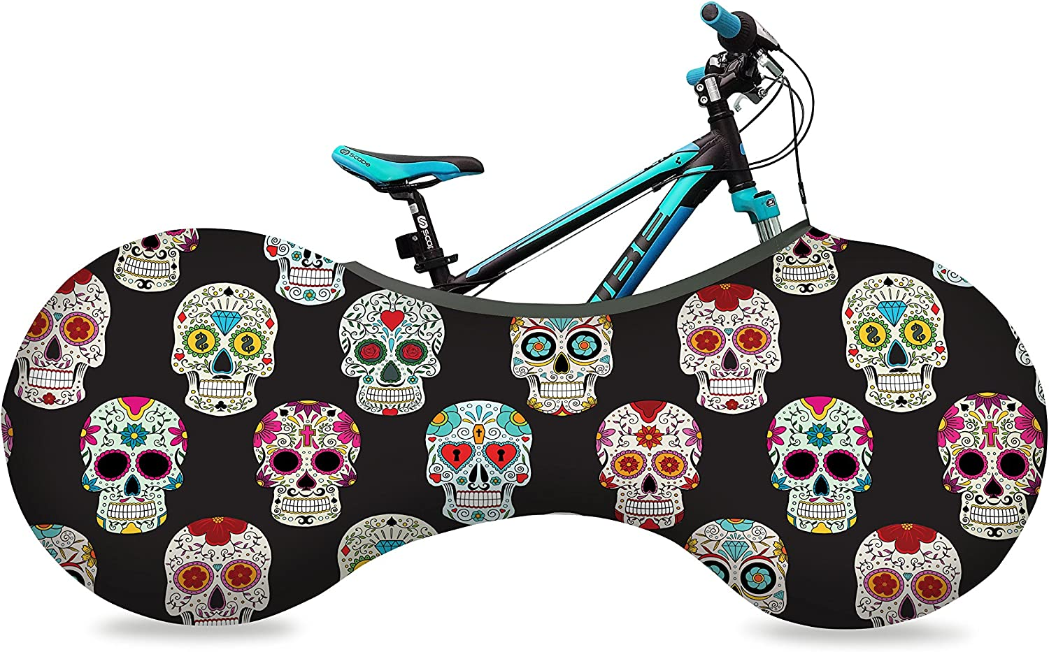 Velo Sock - All items free shipping Unisex bike cover Ronyblack skulls Phoenix Mall size one with