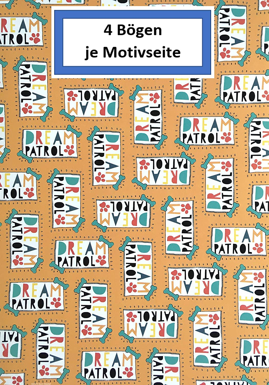 Designpapier Dekorpapier 24 Blatt Sortiert in 6 Motiven Cars Craft Paper Bastelpapier