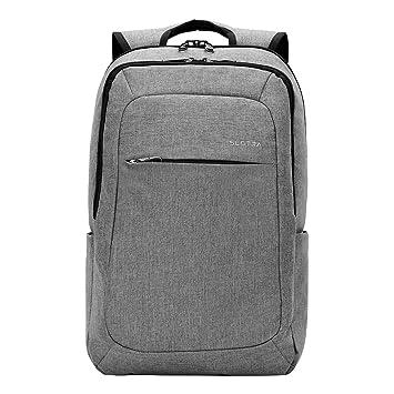Slim Laptop Backpack, Slotra Business Lightweight Nylon Water ...