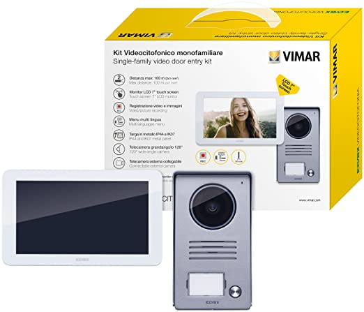 Vimar k40915 Kit videocitofonico de pared contenente 1 Videoportero Touch Screen manos libres a colores