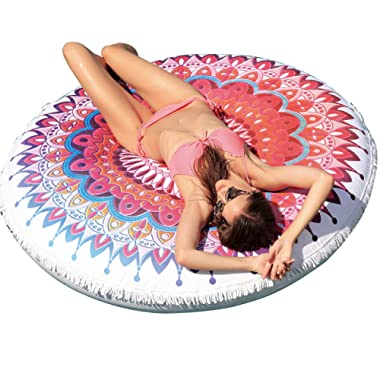Franklin Sports Pool Float - Giant Pool Float – Inflatable Adult Raft – Giant Inflated Swan Float – Giant Plush Towel Top Float