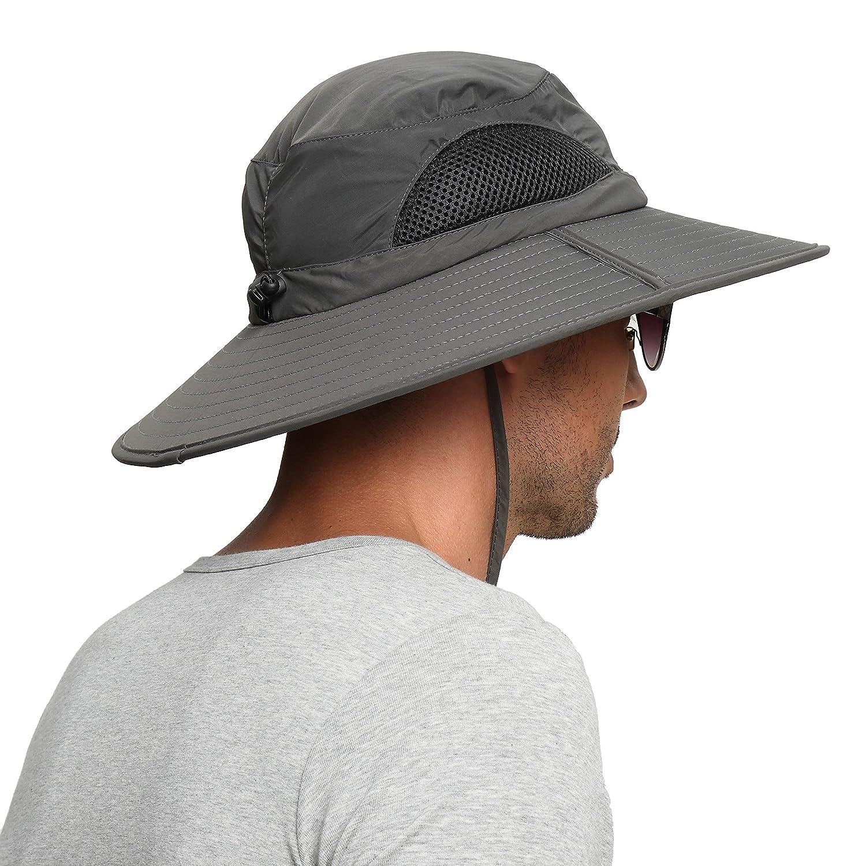 aeceec1f9bc72d Amazon.com   EINSKEY Men s Waterproof Sun Hat