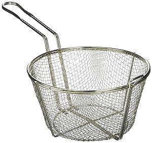 Winco FBR-9 Steel Round Wire Fry Basket, 9-Inch