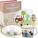 Little Rhymes Old Macdonald Melamine Set, Multi-Colour, 3-Piece