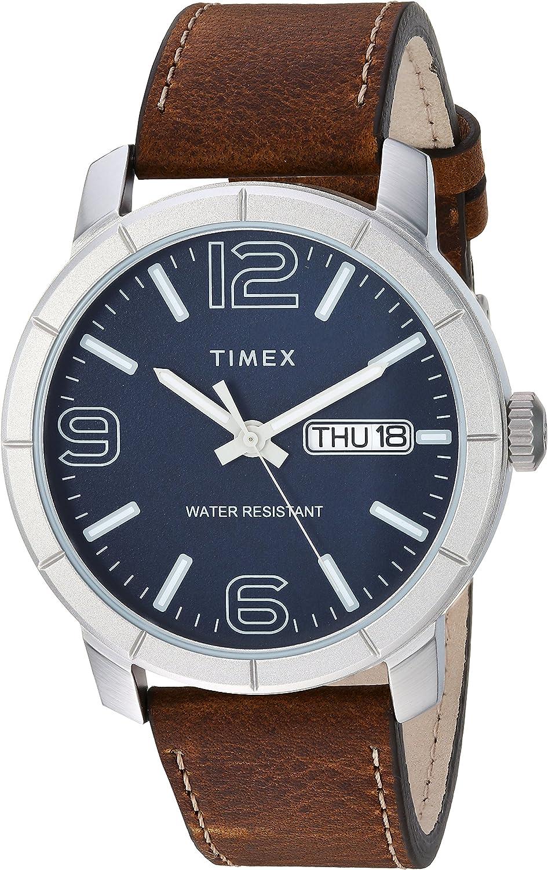 Timex Men's Mod 44 Leather Strap Watch