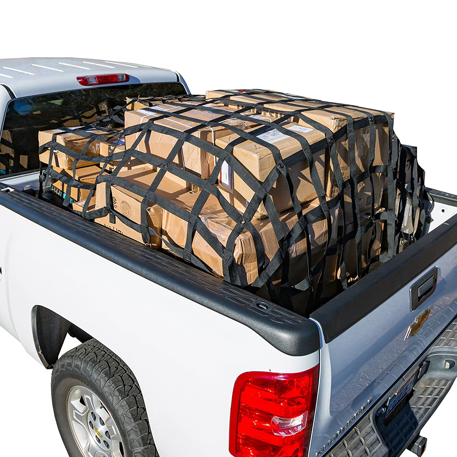 Rakapak Rugged Cargo Net, Durable Truck Bed Net with Elastic Net INCLUDED!