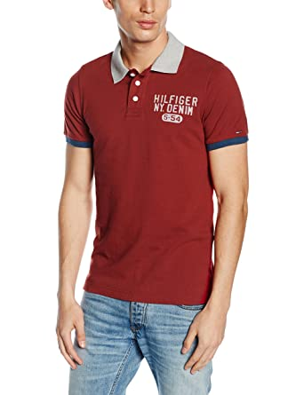 Tommy Hilfiger Denim Pilot Badge Polo s/s, Camisa para Hombre ...