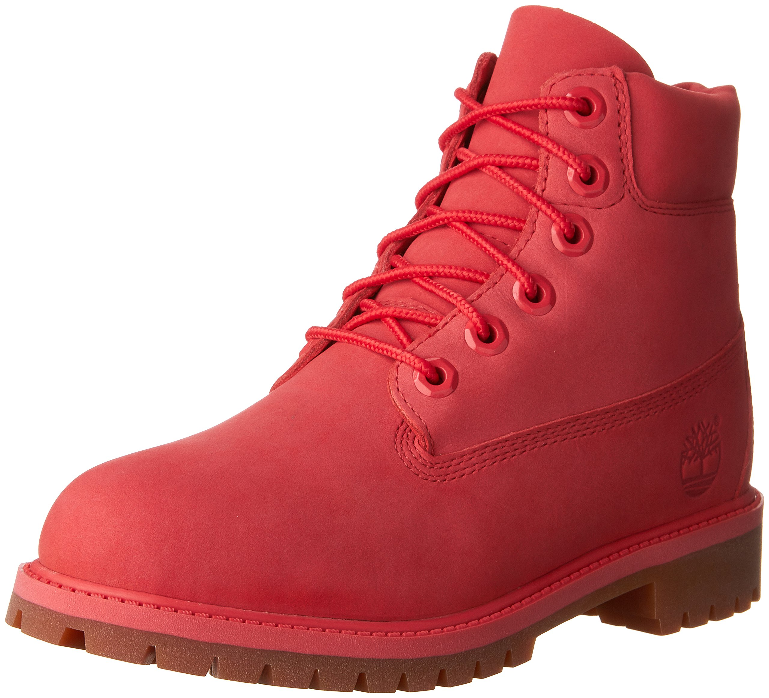 Timberland Kids Girl's 6'' Premium Waterproof Boot (Big Kid) Light Cardinal Waterbuck Boot