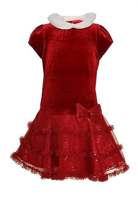 1920s Children Fashions: Girls, Boys, Baby Costumes Jona Michelle Girls Drop Waist Velour Bodice Party Dress $19.95 AT vintagedancer.com