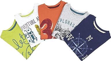 Primark - Pack de 5 Camisetas de Manga Larga, Talla 3-4 años ...