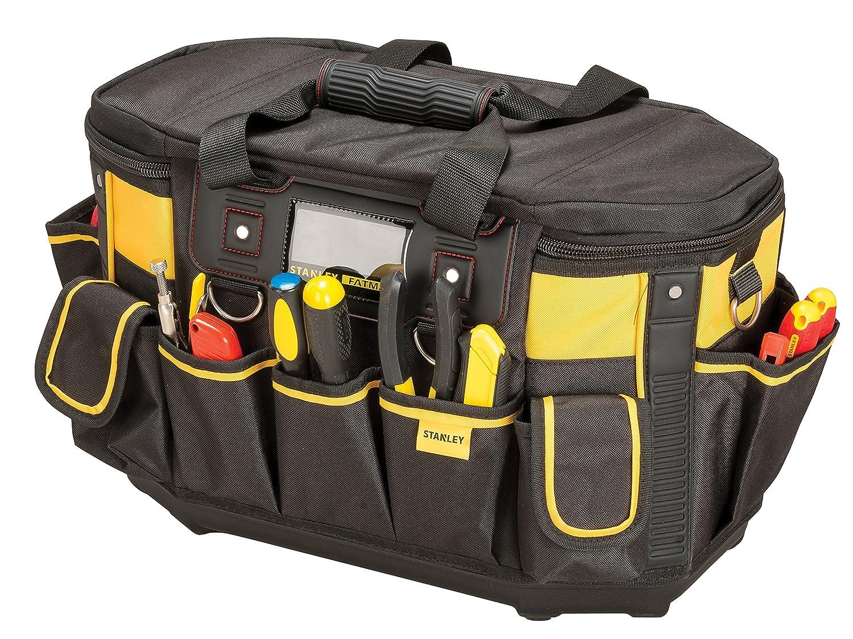Stanley FatMax Werkzeugtasche / Werkzeugbeutel (50x33x31cm, mit runder Ö ffnung, formstabile Konstruktion, leicht zugä ngliche Fä cher, ergonomischer Handgriff) FMST1-70749 BLAMT
