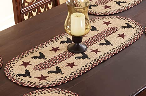 Amazon Com Better Trends Whimsical Collection Is Elegant Soft And Heat Resistant For Dining Table 100 Percent Jute In Vibrant Colors Runner Rooster Home Kitchen