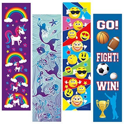amazon com kids bookmarks bulk variety pack 48 bookmarks total