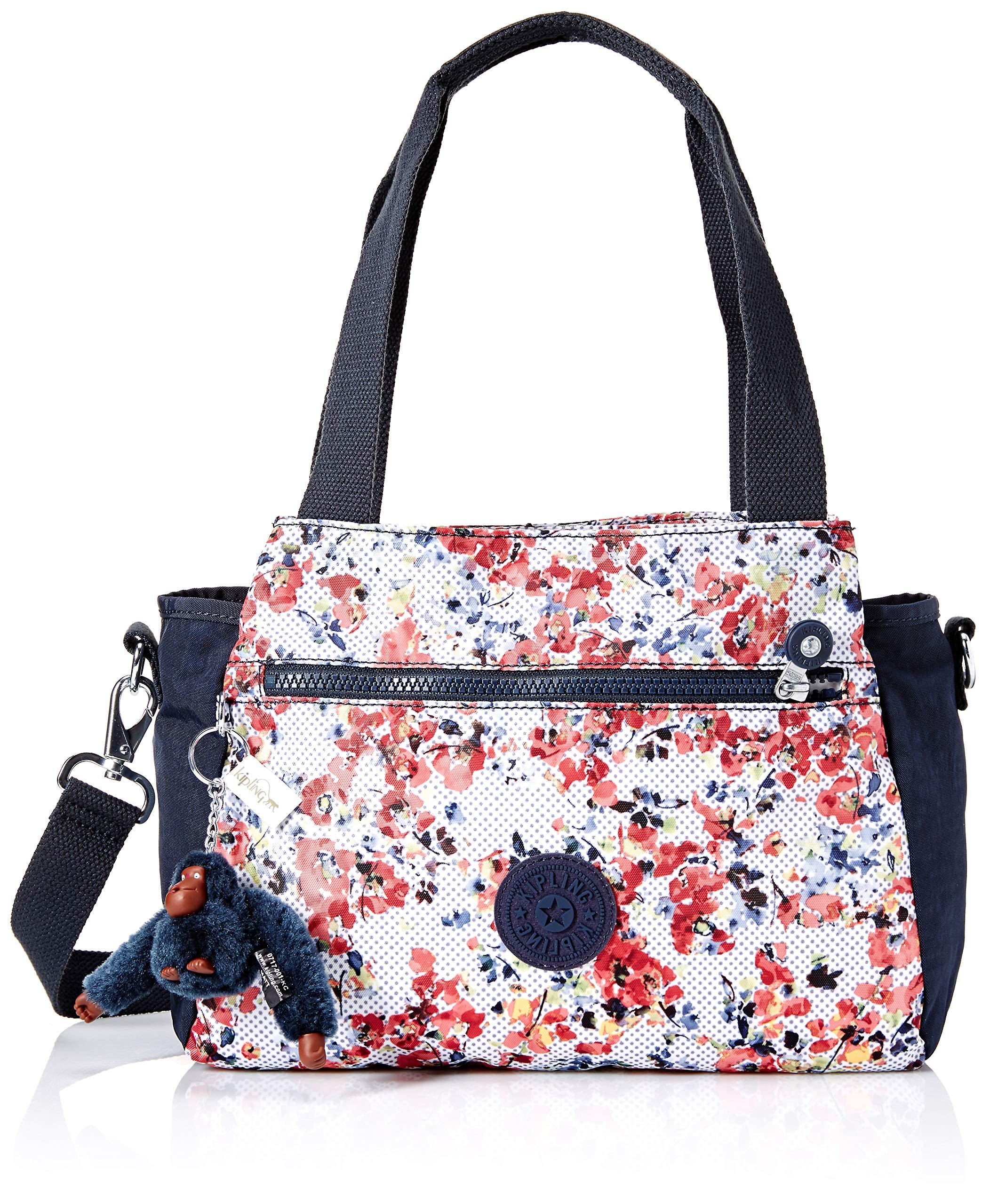 Kipling Elysia Printed Handbag, Busy Blossoms Blue Combo