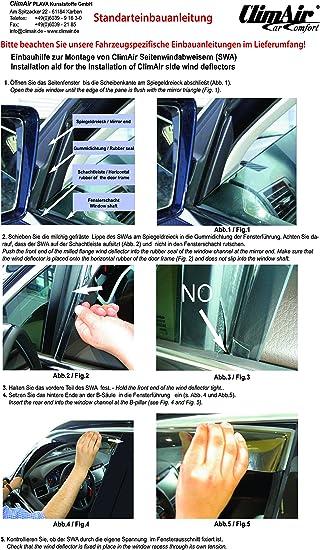 Vordere Windabweiser 1 Set Für Die Fahrer Und Beifahrerseite Cls0033277d Auto