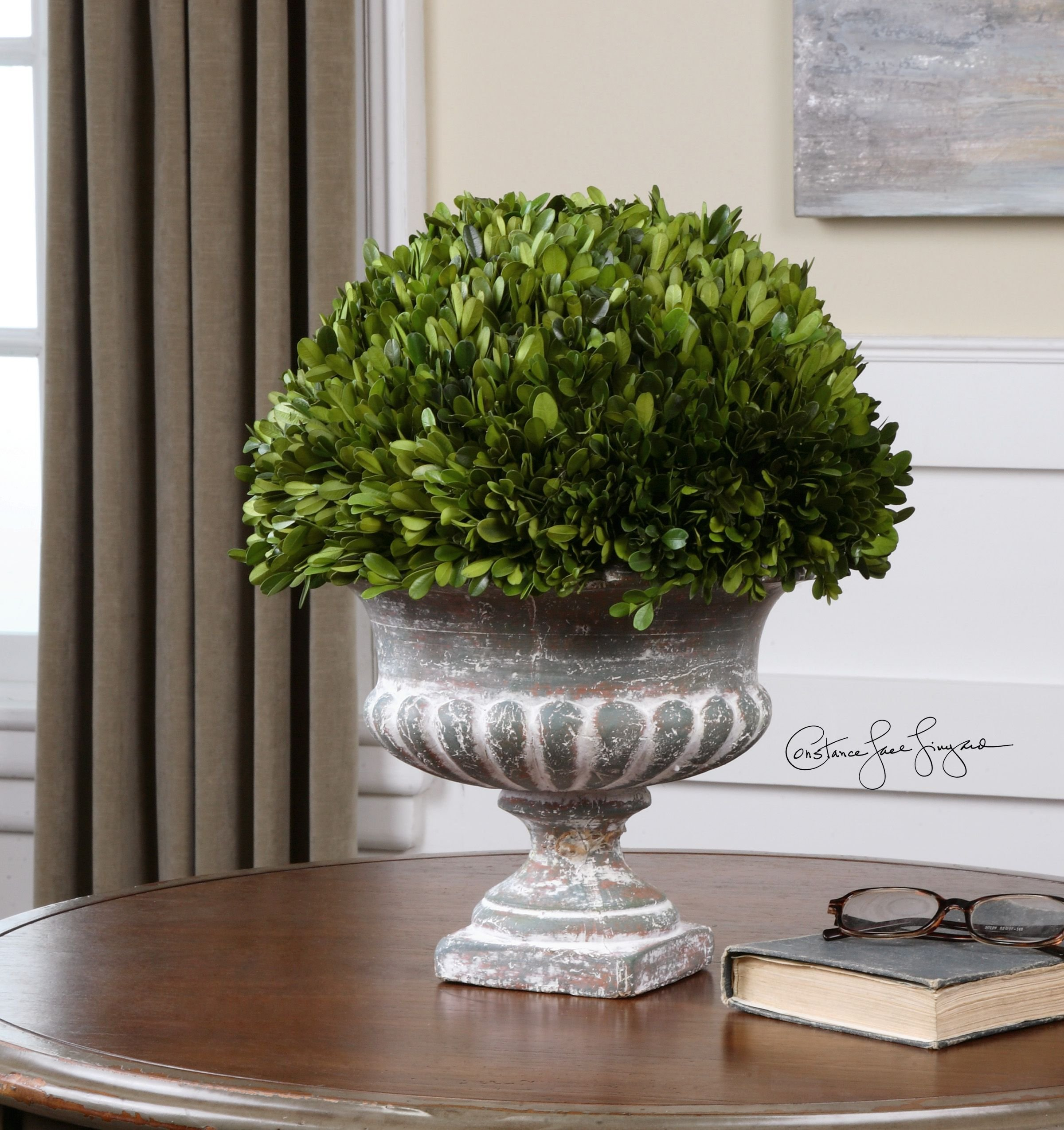 Uttermost Preserved Boxwood Garden Urn with Natural Foliage That Is Picked From Real Boxwood Plants by UTMOST MFG (Image #2)