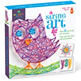 Craft-tastic – String Art Kit – Craft Kit Makes 3 Large String Art Canvases – Owl Edition