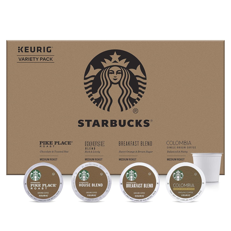 Starbucks Medium Roast Coffee K-Cup Variety Pack for Keurig Brewers, 96 Count