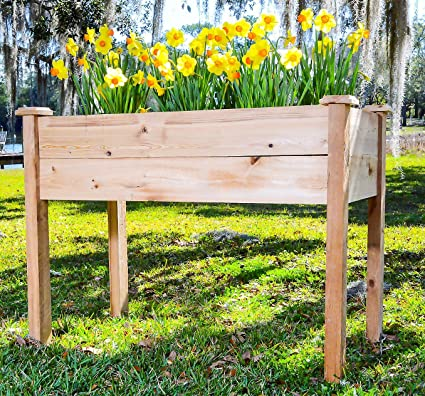 Superbe Pure Cypress Raised Garden Bed U2013 Rustic Elevated Vegetable Planter  [Handcrafted In The USA]