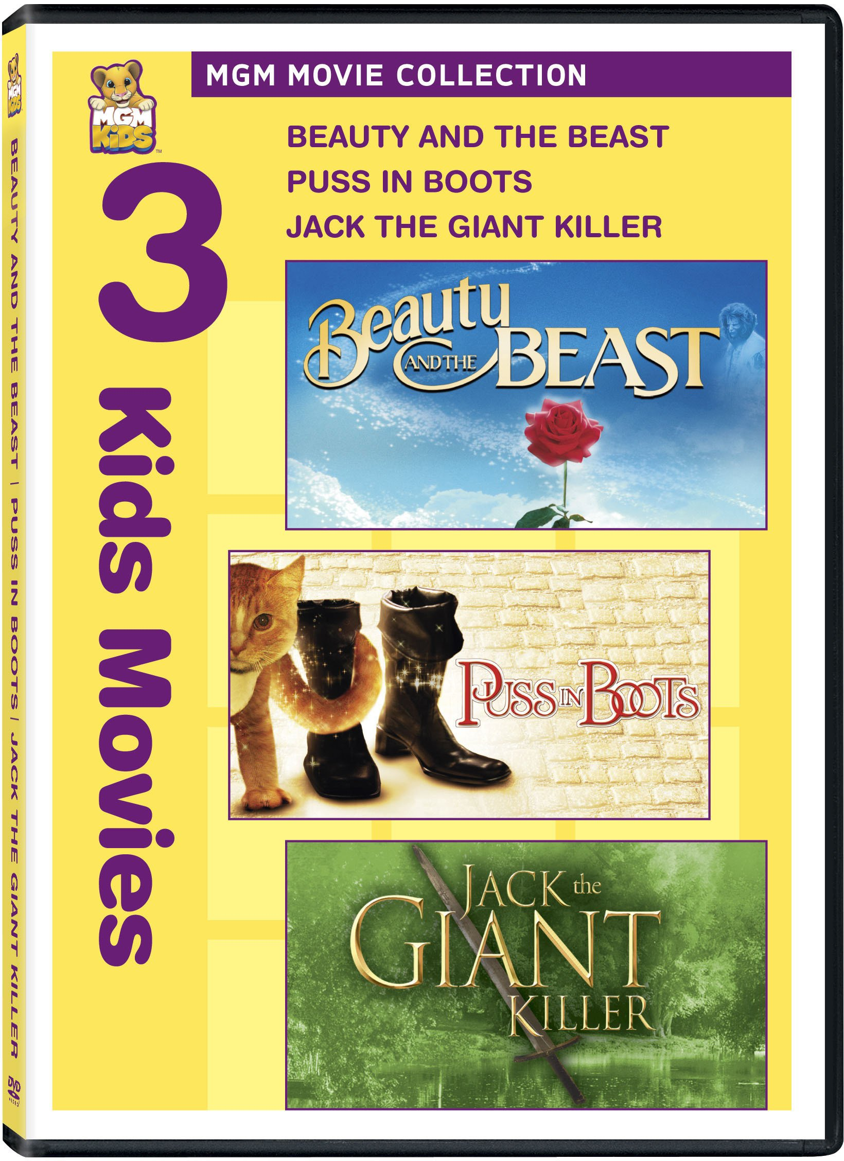 Beauty and the Beast / Puss in Boots / Jack the Giant Killer (Widescreen, Pan & Scan, 2PC)