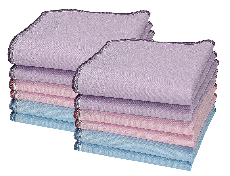 Betz 12 Stück Damen Stoff Taschentücher Set Chanelle 1 Größe 30x30 cm 100% Baumwolle Farbe Dessin 126