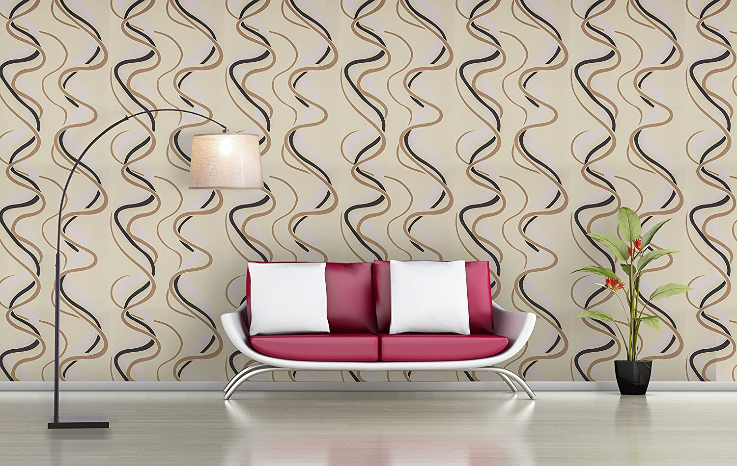 BDPP Imported Non-Woven Washable Wallpaper-W7804(Covers Approximately 50 Square. Feet.): Amazon.in: Home Improvement