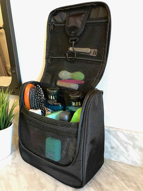 Pack-it-flat Travel Kit w Jewelry Organizer Grey WAYFARER SUPPLY Hanging Toiletry Bag