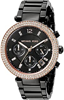 0aab1b152c07 Amazon.com  Michael Kors Women s Wren Black Watch MK5879  Michael ...