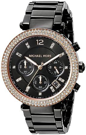 7d32cb29a3e66 Amazon.com  Michael Kors Women s Parker Black Watch MK5885  Michael Kors   Watches