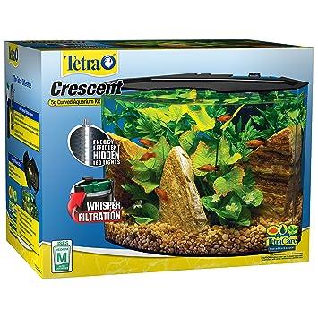 amazon com tetra crescent acrylic aquarium kit energy efficient