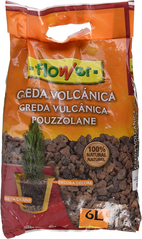 Flower Arlita - Greda volcánica, color marrón, 6 l: Amazon.es: Jardín