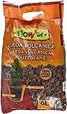 Flower Arlita - Greda volcánica, color marrón, 6 l