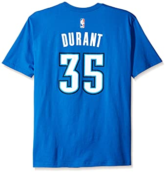 Kevin Durant Oklahoma City Thunder Adidas NBA Player T-shirt camisa - Light Blue: Amazon.es: Deportes y aire libre