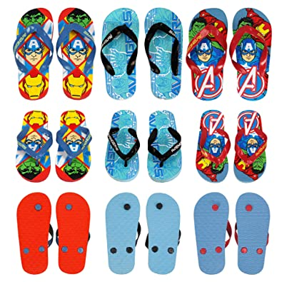 c25a96a9ab33 Marvel® Avenger Official Children Kids Boys Flip Flops Sandals Swimming  Pool Beach Slippers Shoes UK Sizes (5 Years to 11 Years) - One Pair  despatched.