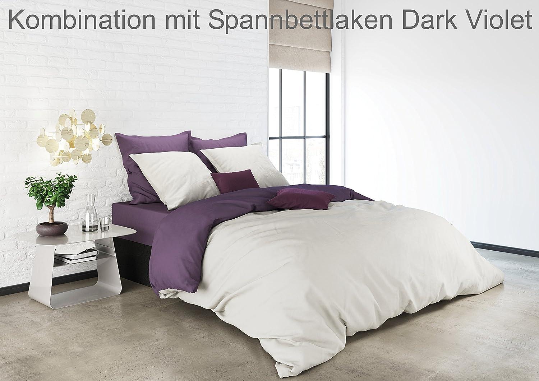 Farbe:Bungee Cord-White Gr/ö/ße:135x200cm Bettw/äsche Mistral Home Uni Einfarbig Wende Bettw/äsche Edel Perkal 100/% /Ägyptische Baumwolle