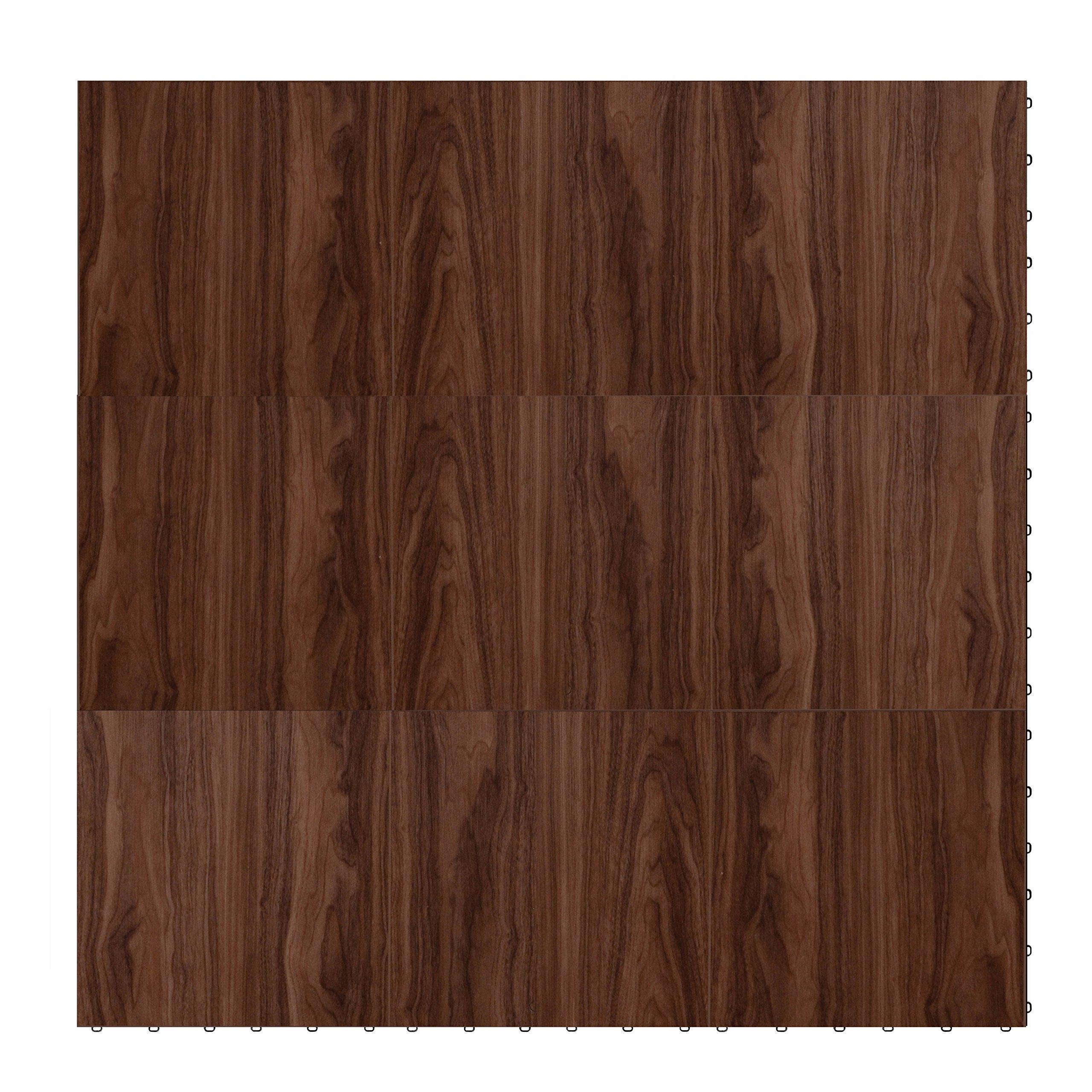 "Swisstrax ¾"" thick Interlocking ""Hardwood"" Floor Tiles (4' x 4' Section) - Dance Floors, Office Areas, Event Floors & more! (Medium Maple) by Swisstrax"
