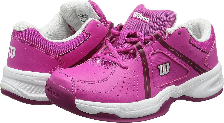 Tissu Synth/étique Id/éal pour les joueurs de tous niveaux Pour tout type de terrain ENVY JR Wilson Enfant Chaussures de Tennis