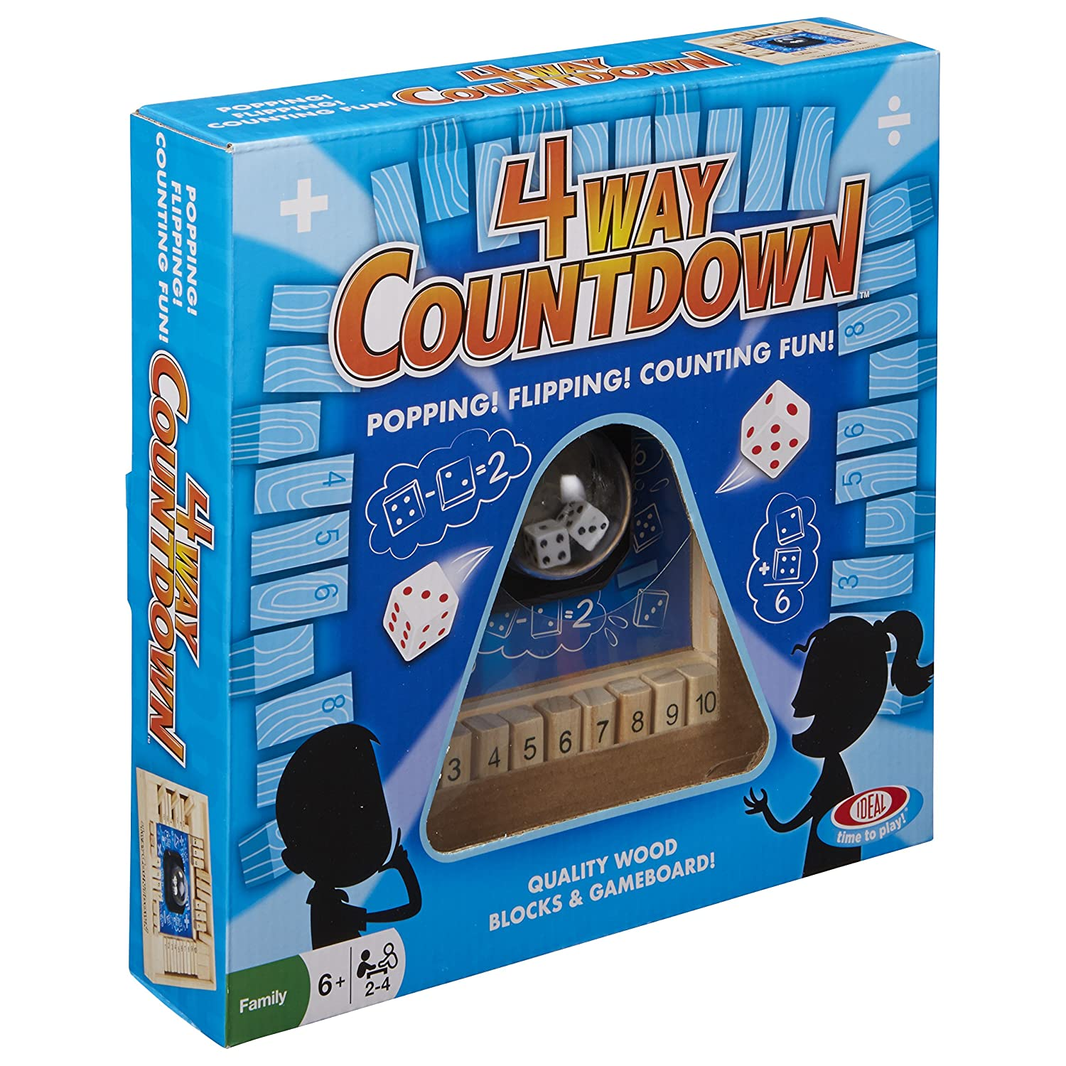 Amazon.com: Ideal 4-Way CountDown Game: Toys & Games