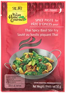 Asian Home Gourmet Spice Paste for Thai Spicy Basil Stir Fry