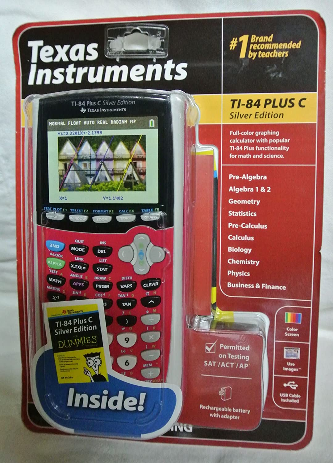Texas Instruments TI-84 Plus C Silver Edition Graphing ...