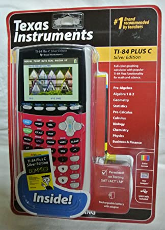 Amazon.com : Texas Instruments TI-84 Plus C Silver Edition ...