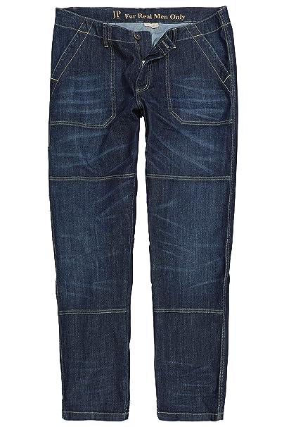 komplettes Angebot an Artikeln guter Service unverwechselbarer Stil JP 1880 Herren große Größen bis 7XL, Worker-Jeans, lässig weit mit  Doppelnähten, 4-Pocket, Entspannte Bundweite, Weite Oberschenkel- und  Beinweite, ...
