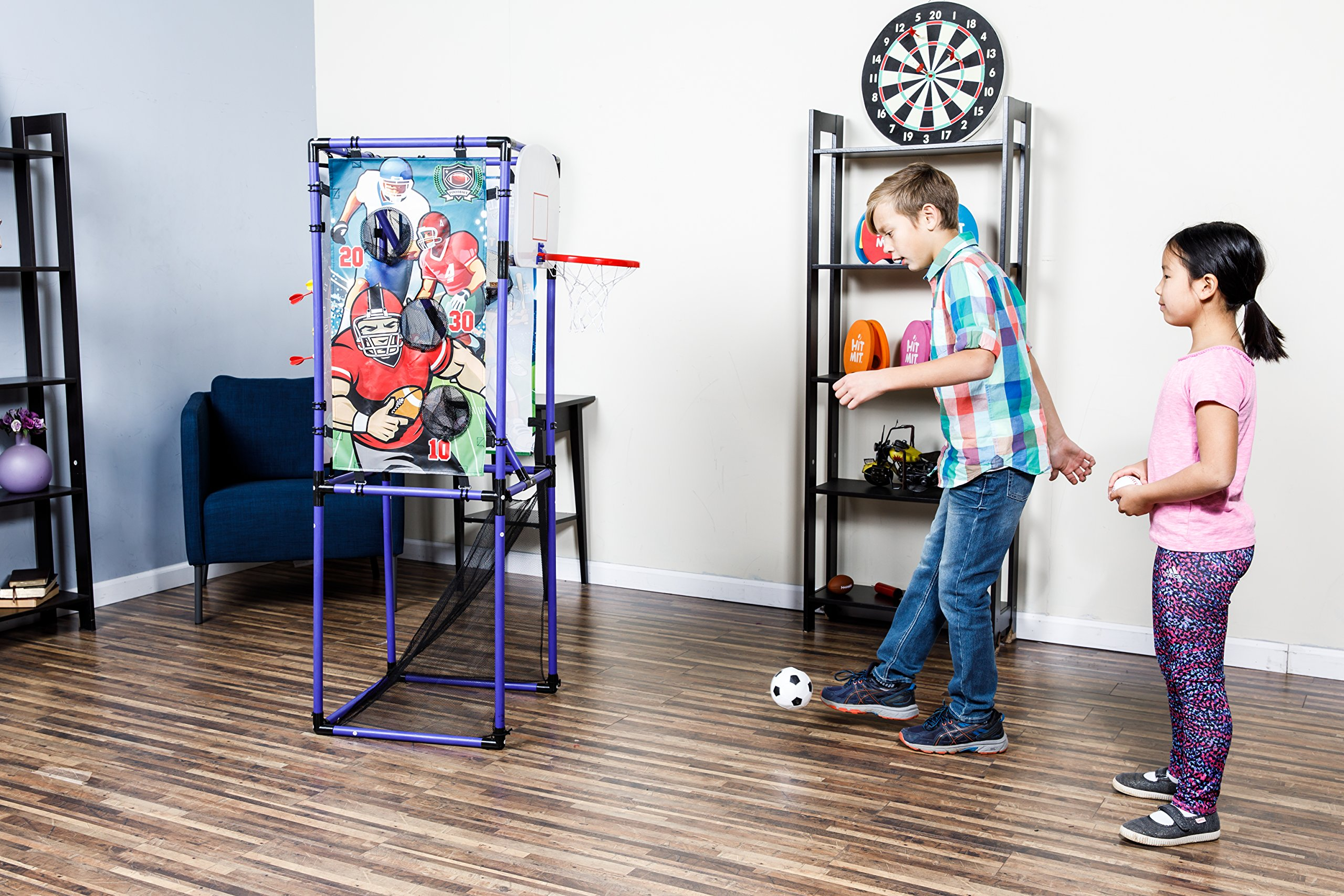 Sport Squad 5-in-1 Multi-Sport Kid's Game Set – Features Baseball, Basketball, Football, Soccer, Darts – Great for Indoor and Outdoor Play by Sport Squad (Image #7)