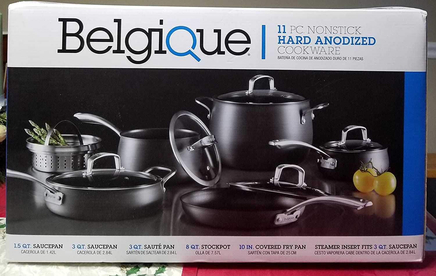 Amazon.com : Belgique 11 PC NONSTICK HARD ANODIZED COOKWARE GREY : Everything Else